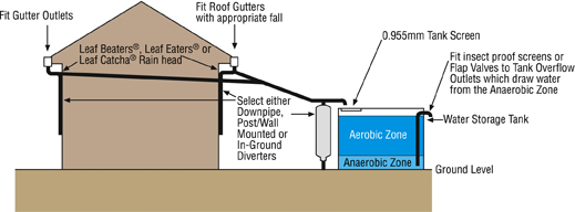 Rainwater Harvesting and Collection Diagram
